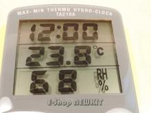 ترمومتر دیجیتالی با رطوبت سنج و ساعت