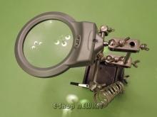 گیره مونتاژ ذره بین دار با LED و فنر هویه