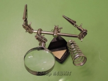 THIRD HAND TOOL MAGNIFYING WITH SOLDERING STAND